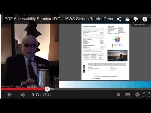 PDF Accessibility Seminar NYC - JAWS Screen Reader Demo