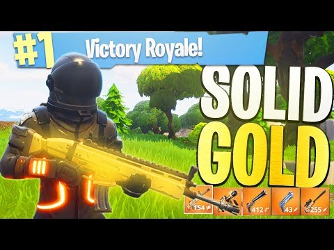 Everythings LEGENDARY!  NEW Fortnite Game Mode Solid Gold Legendary ONLY Playlist w AliA!