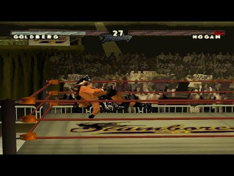 WCW/NWO Thunder - Goldberg - World Heavyweight Championship (PS1)