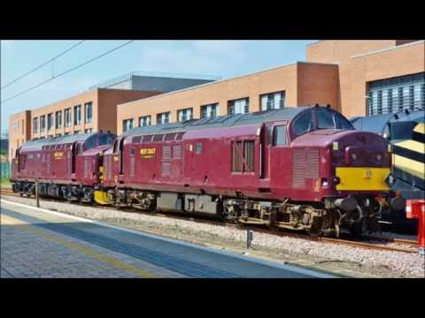 48151 37668 & 37685 with The Scarborough Spa Express at York on 9th June 2016
