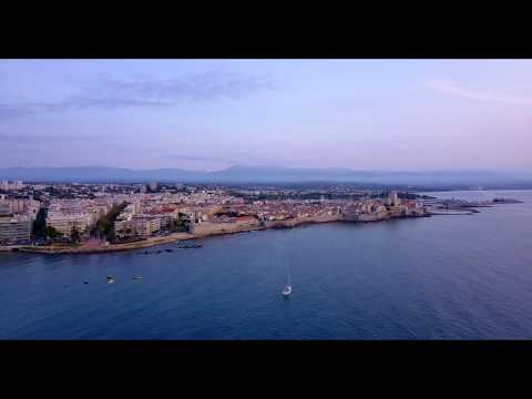 Antibes, Cote d'Azur, Sunrise from above - DJI Mavic Pro