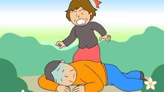 脳卒中編シーン1 外出中、夫が突然倒れた!