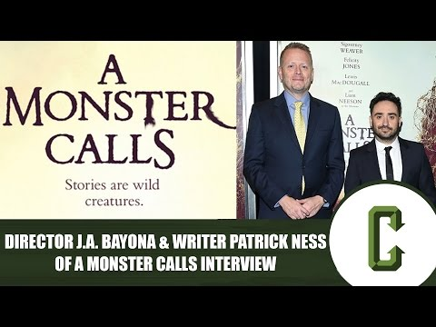 Director J.A. Bayona and Writer Patrick Ness of A Monster Calls   Collider Video