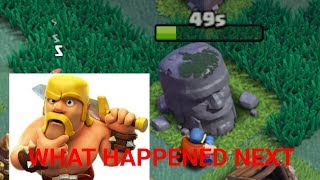 Removing the old barbarian statue OMG 500 GEMS LOL