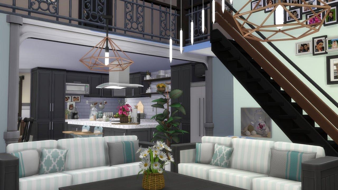 The Sims 4 House Build Suburban Loft Family Mansion