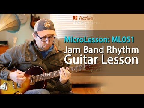 Jam Band Style Rhythm Guitar Lesson - Learn a classic rock rhythm in this guitar lesson