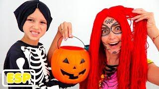 Vlad y Nikita juegan Halloween Truco o trato