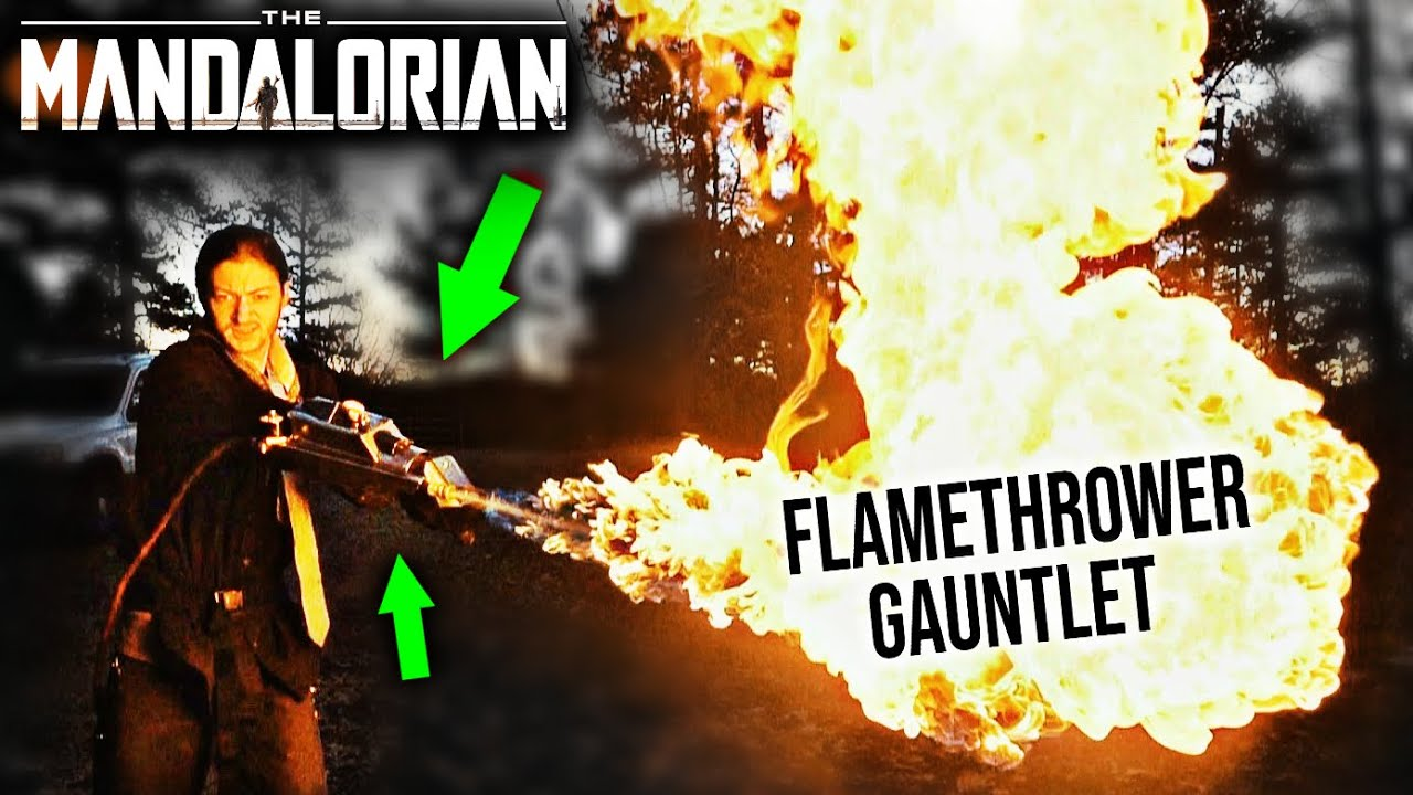 Building The Mandalorian Flamethrower Gauntlet Real Metal Youtube