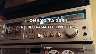 ONKYO TA-2060 3Head DD Tape Deck teardown / inside (1981-82)