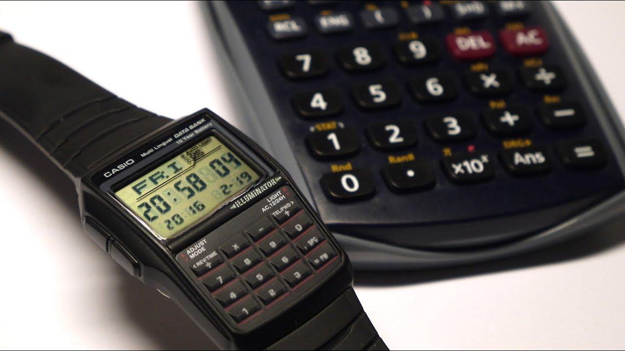 0ab4d367b1bc Casio DBC32-1A Data Bank Black Digital Watch - YouTube
