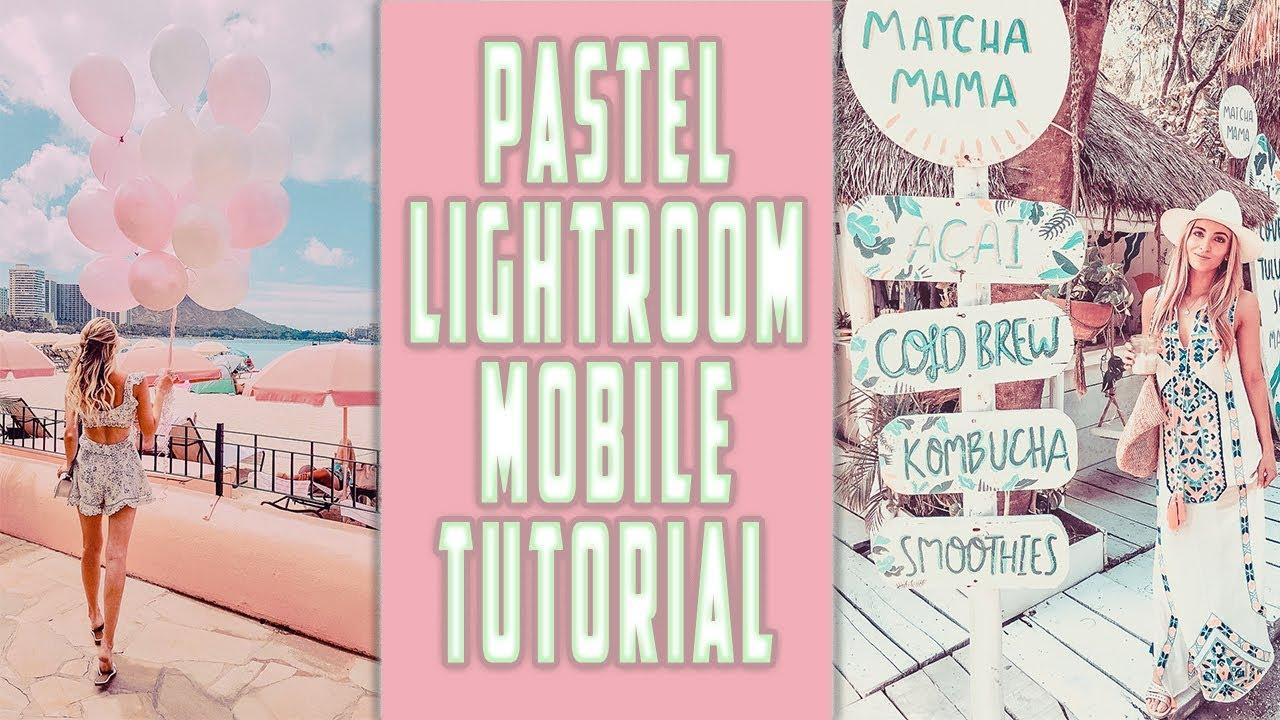 Pastel Lightroom Mobile Tutorial | Free Preset