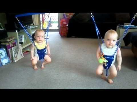 Twins rockin to Johnny Cash