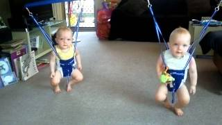 twins rockin to johnny cash