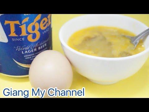 Cách làm trắng da tại nhà chỉ bằng trứng gà và bia Giang My Channel