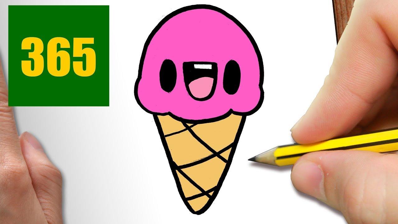 Comment Dessiner Crème Glacée Kawaii étape Par étape Dessins Kawaii Facile