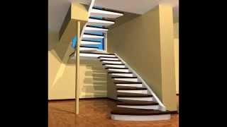 видео Интересные варианты дизайна лестниц