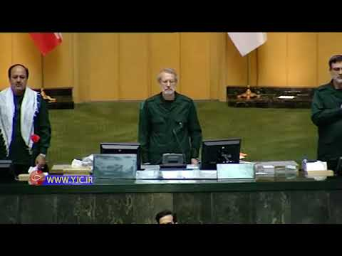 Iranian Parliament Members wearing an IRIG (Sepah) uniform in the open courtroom
