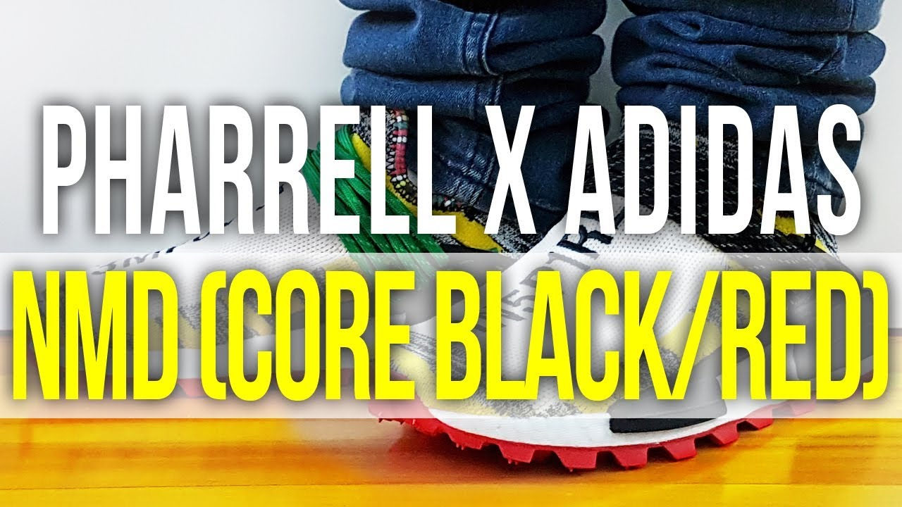 4a24d59d1ece3 PHARRELL X ADIDAS NMD HU SOLAR PACK (CORE BLACK RED) on Feet and ...