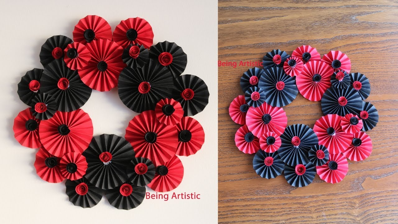 Paper Flower Wall Hanging Diy Hanging Flower Wall Decoration