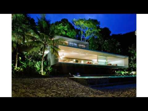 Minimalist modern beach house subdued to wilderness paraty house by marcio kogan homesthetics inspir