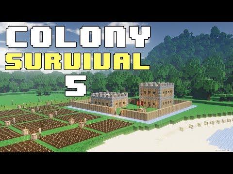 Прохождение COLONY SURVIVAL: #5 - ЗАЧАТКИ КОНВЕЙЕРА СМЕРТИ!