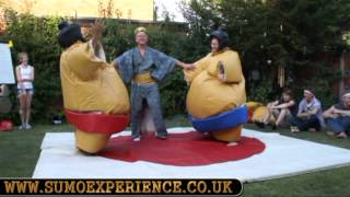 High energy Sumo Suit wrestling with Sumo Experience at Chloe's 21st birthday party