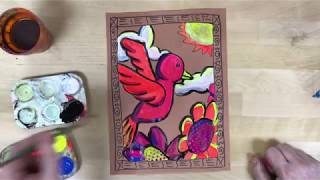Elementary Art Project - Amate Painting