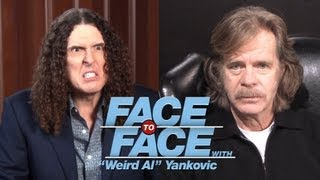 """WILLIAM H. MACY goes Face to Face with """"Weird Al"""" Yankovic"""