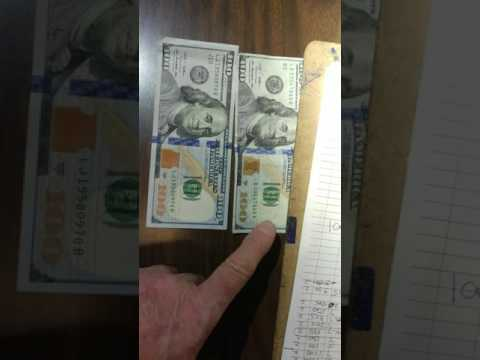 REAL $100 DOLLAR BILL vs COUNTERFEIT $100 DOLLAR BILL