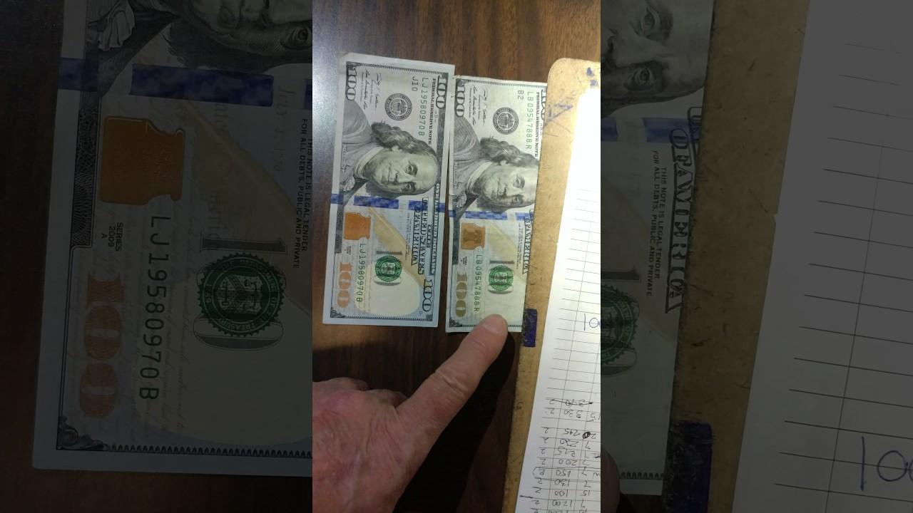 REAL $100 DOLLAR BILL vs COUNTERFEIT $100 DOLLAR BILL - YouTube