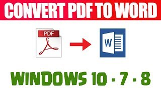 How to convert PDF to WORD free 2018