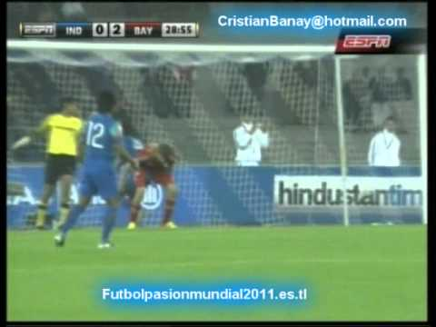 India vs Bayern Munich (0-4)  Amistoso 2012 Los goles