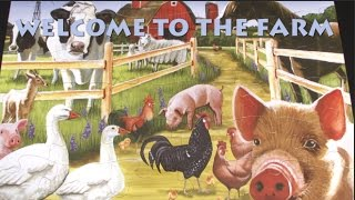 Welcome to the Farm Floor Puzzle from Cobble Hill Puzzle Company