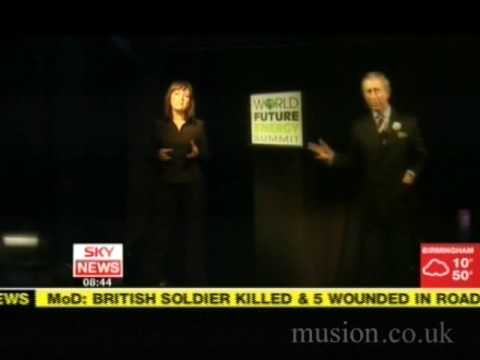 Hologram of Prince Charles - Musion Holographic Projection