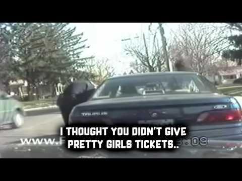 Cop wrecks feminist (thug life)