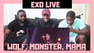 BLACK GUYS REACT TO: EXO(엑소)- MAMA + Monster + Wolf LIVE