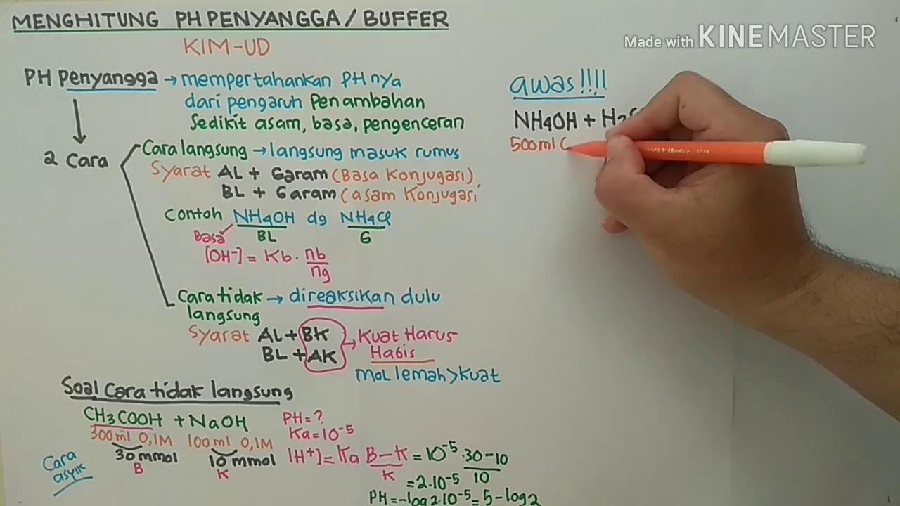 Cara Cepat Menghitung pH Larutan Penyangga/ Buffer - YouTube