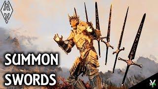 SUMMON SWORDS: Crazy Magic Mod!!- Xbox Modded Skyrim Mod Showcase