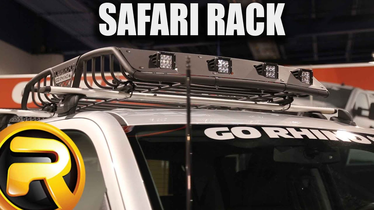 Toyota Tundra Roof Rack >> Go Rhino Light Ready Safari Rack - YouTube