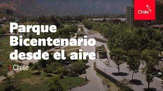Chile: Parque Bicentenario desde el aire