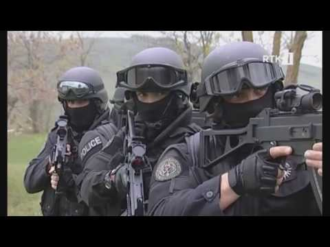 Kosovo police forces message to islamic terrorists