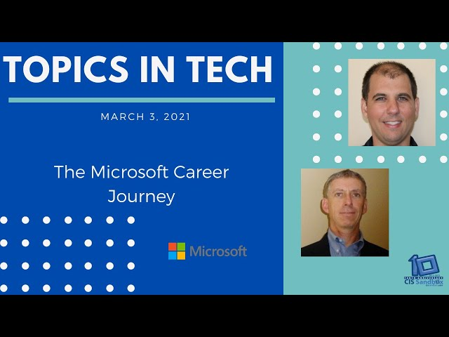 Chris Bortlik & John Donohue (Microsoft) - Topics in Tech