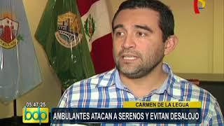 Carmen de La Legua: ambulantes se enfrentan a serenos y evitan desalojo