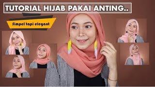 5 Tutorial Hijab Pakai Anting Kekinian Pashmina Segiempat Youtube