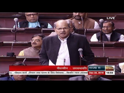 Sh. Anil Madhav Dave's comments on The Juvenile Justice (Care and Protection of Children) Bill, 2015