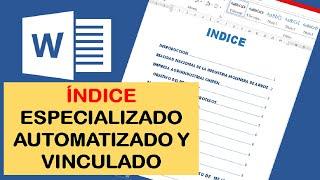 COMO HACER UN INDICE AUTOMATICO Y VINCULADO EN WORD thumbnail