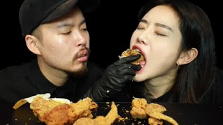 Fried chicken & Spicy chicken mukbang