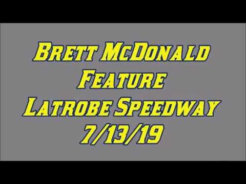 Brett McDonald Feature Latrobe Speedway 7/13/19