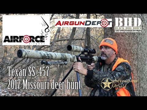 """suppressed .457 Airforce Airguns """"Texan ss"""" takes a Mo. buck"""