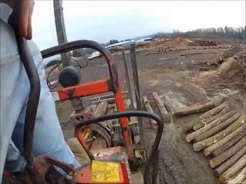 Prentice 120 unloading logs- Go Pro Hero 2